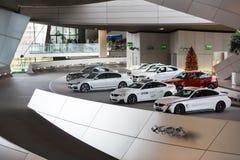 BMW bilar på utställningen Royaltyfri Bild