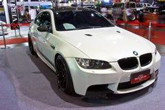 BMW blanco muestra en el segundo salón auto internacional 20 de Bangkok fotos de archivo libres de regalías