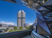BMW-Borte und -Hauptsitze in München lizenzfreie stockbilder