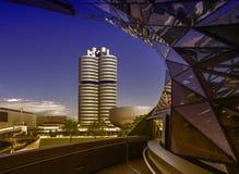 BMW-Borte und -Hauptsitze in München stockfotografie
