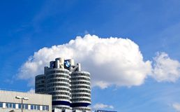BMW building in Munich Royalty Free Stock Images