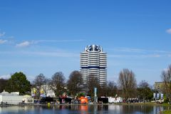 BMW building in Munich Stock Photos