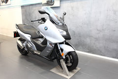 BMW C600 Sport Motorcycle on display Stock Photography