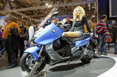 BMW C600 Sport in EICMA 2011 Stock Photos