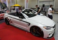 BMW Cabrio montré à la 3ème édition de l'EXPOSITION de MOTO à Cracovie Photos stock