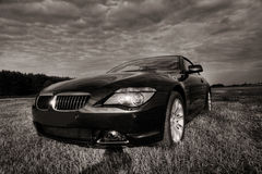 Bmw cabriolet sepia toned Stock Images