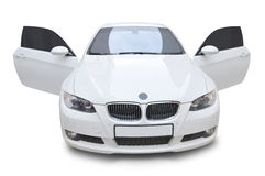 BMW car 335i convertible - doors open Royalty Free Stock Photo