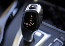 Bmw Car Gear Shift Stick Automatic royalty free stock photo