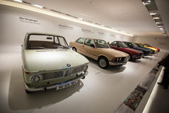 BMW Car History Stand Stock Images