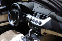 Bmw Car interior. Interior of new luxury sports car Stock Photo