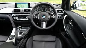 BMW car interior Stock Photo