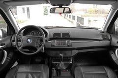 Chernigov, Ukraine - November, 2017. BMW X5. Car interior luxury service. Car interior details stock photography