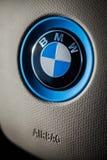 BMW car logo detail stock images