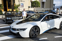 Bmw car  on the street in Monaco,France Stock Image