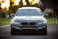 BMW car on streets Stock Photos