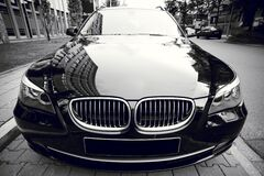BMW car on streets Royalty Free Stock Photo