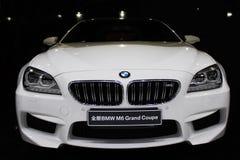 A BMW car. A white BMW car,BMW M6 Grand Coupe Royalty Free Stock Photos