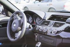 BMW-carro branco z4 do cupê Foto de Stock