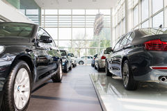 BMW cars for sale. BMW cars  at car dealership showroom Stock Image
