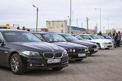 BMW cars 5-series Royalty Free Stock Photo