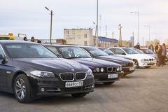 BMW cars 5-series Stock Image