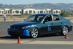 BMW chez Autocross photos stock