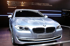 BMW Concept 5 Series at Motor Show 2010, Geneva Stock Images