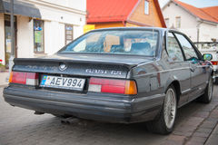 BMW 635 CSi E24 car on the street. LITHUANIA, KEDAINIAI - JUNE 20, 2015: BMW 635 CSi E24 car on the street. The BMW E24 is the first generation of BMW 6 Series Stock Photo