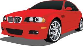 bmw czerwień m3 royalty ilustracja