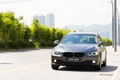 BMW 320d轿车2013年 免版税库存照片