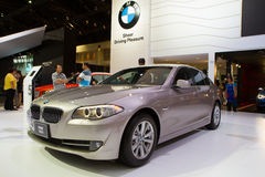 BMW 520d Car On Thailand International Motor Expo Royalty Free Stock Photo
