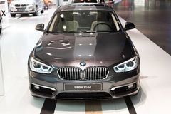 BMW 118d presented at BMW World showroom in Munich, Germany Stock Photography