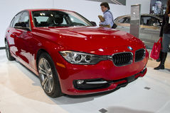 BMW 328D XDrive Sedan at NY Auto Show. The New York International Auto Show is an annual auto show held in New York City in late March or early April. It is Royalty Free Stock Photography