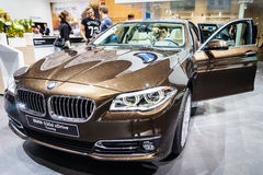 BMW 530d xDrive Touring, Motor Show Geneva 2015. Royalty Free Stock Photos