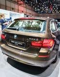 BMW 530d xDrive Touring, Motor Show Geneva 2015. Royalty Free Stock Photos