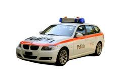 BMW da polícia suíça Fotografia de Stock