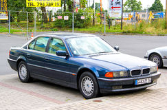 BMW E38 7 σειρές Στοκ φωτογραφία με δικαίωμα ελεύθερης χρήσης
