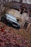 Bmw e36, осень, girlcar, темно Стоковая Фотография
