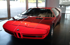BMW E25涡轮在BMW博物馆的概念汽车 免版税库存图片