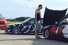 BMW E34, E36漂泊汽车 免版税库存图片