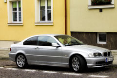 BMW E46 3 Coupe Silver Royalty Free Stock Images