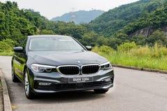 BMW 530e hybrydu 2017 Przenośnego testa Prowadnikowy dzień zdjęcia stock
