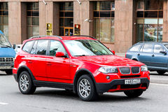 BMW E83 X3. MOSCOW, RUSSIA - JUNE 2, 2013: Motor car BMW E83 X3 at the city street royalty free stock photo