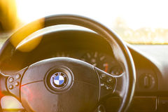 Bmw e39 steering wheel Stock Image
