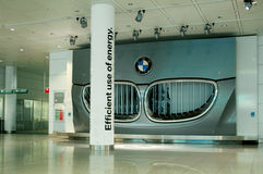 BMW electric car advertising royalty free stock photography