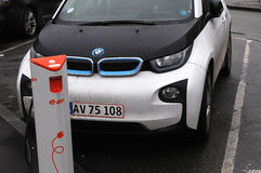 BMW ELECTRIC CAR Royalty Free Stock Photo
