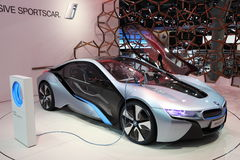 BMW electric concept car i8 Royalty Free Stock Photo