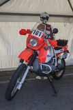 Moto bmw elf 101 paris dakar 1986 Royalty Free Stock Photo