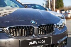 BMW emblem på en bmw-bil arkivfoto