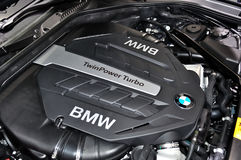 BMW engine cover on IAA Frankfurt 2011 Royalty Free Stock Photography